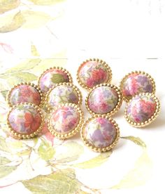 """10 petites /""""handmade/"""" à coudre boutons 15mm bois handmade childrens boutons 5//8/"""""""