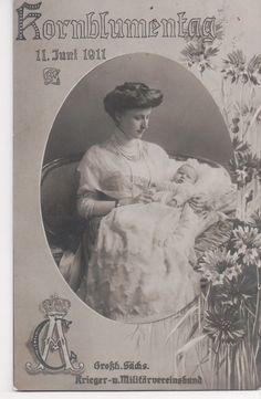 Princess Feodora of Saxe Meiningen, Saxe Weimar and her Son