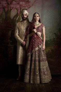 By designer Sabyasachi Mukherjee. Shop for your wedding trousseau, with a personal shopper & stylist in India - Bridelan, visit our website www.bridelan.com #Bridelan #weddinglehenga #sabyasachi #sabyasachiweddinglehenga