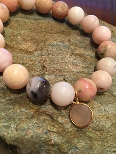 Pink Opal bracelet #PinkOpal Etsy.com/shop/Karmicsparkle