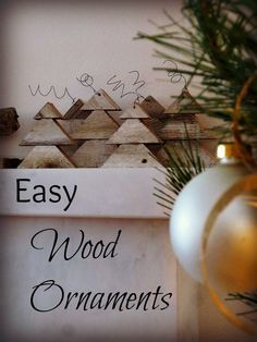 Easy Wood Ornaments...triangular cuts, graduated from 2x4s or 2x6s...