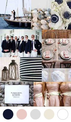 Modern Nautical Wedding Color Palettes.