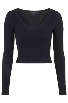 Photo 1 of PETITE V-Neck Ribbed Top