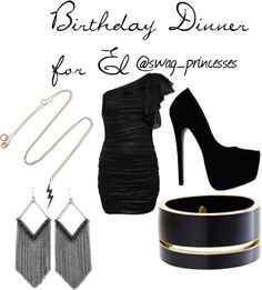 """birthday dinner for El"" by maddy250199 on Polyvore"