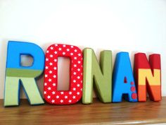 Handmade fabric wall letters