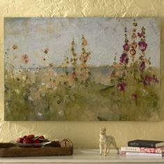 Flowers by the Sea Print | Ballard Designs  seeing this over my mantle once the room is painted gold