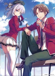 Anime Girl Neko, Chica Anime Manga, Anime Art Girl, Anime School Romance, Anime Classroom, Anime Girl Drawings, Handsome Anime Guys, Dark Anime, Manga Illustration