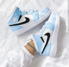 Cute Nike Shoes, Cute Sneakers, Nike Air Shoes, Shoes Sneakers, Shoes Jordans, Air Jordan Sneakers, Nike Air Jordans, Colorful Nike Shoes, High Top Jordans
