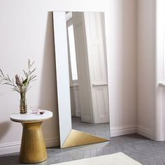 Shop large floor mirror from west elm. Find a wide selection of furniture and decor options that will suit your tastes, including a variety of large floor mirror. Decor, Modern Furniture, Floor Mirror, Living Room Flooring, Mirrors For Sale, Wooden Bed, Home Decor, Flooring, Mirror