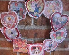 Teacup Lane: Adorable Vintage Valentine Wreath- I need to make one!!