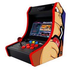 Kiss Kiss Bang Bang, Arcade Bartop, Borne Arcade, Pocket Cat, Retro Arcade, Arcade Machine, Skull Decor, Video Game Console, Arcade Games