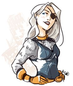 Ravager from DC Comics.  by Laura Laurain aka okelleok. Looove the eyepatch!!