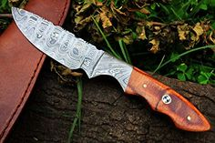 """DKC-514 TRAIL MASTER Damascus Hunting Handmade Knife Fixed Blade 7.5 oz 9"""" Long -- Click image to review more details."""