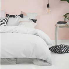 Pretty in pink bedroom by @artclub_concept cushions and prints available in our online boutique! #urbancouturedesigns #interiordesign #homedecor