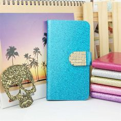 Luxury Bling Glitter Flip PU Leather Cover Case For HTC Desire Eye M910X Full Protector Original Stand Book Shining Skin Cover