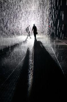 """""""Rain Room"""" at Moma by joe holmes"""