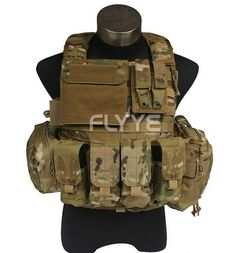In stock FLYYE genuine MOLLEForce Recon Vest with Pouch Set Ver.Land  Military Tactical Vest VT-M005