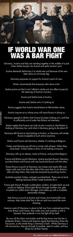 World war one explained in a few sentences