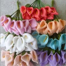 1.5CM artificial foam flower cheap mini calla lily bouquet,diy craft for wedding party decoration boutonniere&hair garland&Box!(China (Mainland))