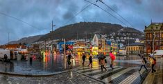 Rainy day in Bergen v2 - null