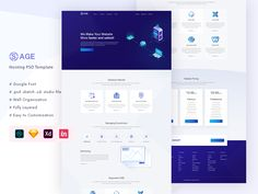 SaaS Hosting Landing Page Helvetica Neue, Social Media Pages, Landing Page Design, Hosting Company, Modern Colors, Cool Fonts, Psd Templates, Website Template, This Or That Questions