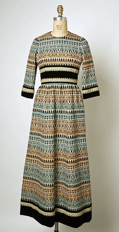 Dress  House of Balmain (French, founded 1945)  Designer: Pierre Balmain (French, St. Jean de Maurienne 1914–1982 Paris) Department Store: Bergdorf Goodman (American, founded 1899) Date: 1967