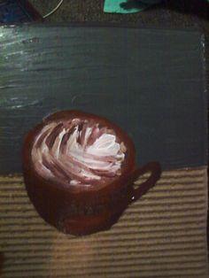 Painting on Cardboard.