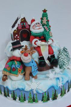 Santa's List - Cake by Viorica Dinu