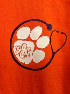 Clemson nurse shirt by SillySalgals on Etsy
