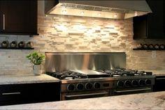Küchenrückwand 3D Oberfläche weiße Steinfliesen