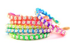 Reserve: From Bracelet Stackers To Leather Earrings: Half-Off The Indie-Chic Jewelry Every California Girl Is Wearing Neon Jewelry, Diy Jewelry, Jewelry Making, Neon Bracelets, Crystal Bracelets, Stacking Bracelets, Neon Accessories, Neon Rainbow, Unique Outfits