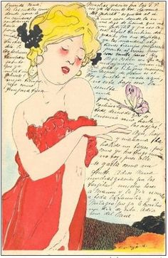 Raphael Kirchner, Love Thoughts,1900