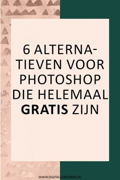 Wil je foto's bewerken en/of graphics ontwerpen, maar vind je Photoshop te d… Do you want to edit photos and / or design graphics, but do you think Photoshop is too expensive? Photoshop For Photographers, Photoshop Photography, Photography Tips, Popular Photography, Portrait Photography, Modern Photography, Creative Photography, Tutorial Photoshop, Photoshop Actions