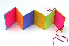 DIY Books: Day-Glo Accordion Book tutorial - Babble Dabble Do