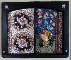 Rooster Wall Hanging-mosaic art-mosaic wall hanging-mixed
