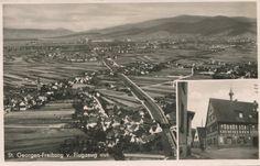 Freiburg St. Georgen ca. 1938    Luftbild Freiburg St. Georgen. Foto undatiert. Ich schätze nach der Eingemeindung 1. April 1938