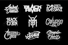 make a typography band logo by ajenxris