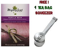 Mighty Leaf Tea , Vanilla Beans ,(with FREE Tea Bag Squeezer) (1 Pack) * You can get more details by clicking on the image.
