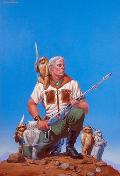I do love Little Fuzzies  Michael Whelan did this piece -  Friends II - I did not know that.