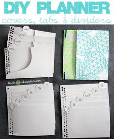 Black and White Obsession | Organize your DIY Planner. How to make Covers, Tabs & Dividers using Food Boxes (like Cereal boxes, Pizza boxes,... January's Silhouette Challenge.
