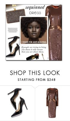 """""""Stand for Something"""" by sherieme ❤ liked on Polyvore featuring Tom Ford, Chanel, chocolate, brown, Sequins and polyvorecontest"""