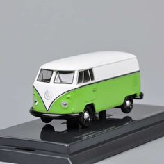1/64 Scale Green Volkswagen VW BUS T1 Diecast Car Kyosho Model Toy Van Maruchan in Diecast-Modern Manufacture | eBay