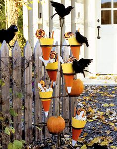 Candy corn and crows.