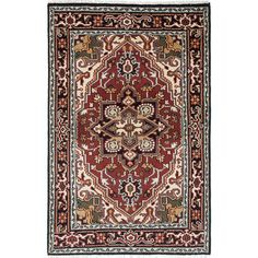 EcarpetGallery Royal Heriz Red Wool Hand-knotted Rug