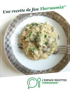 Risotto aux champignons et courgettes par rbormi. Une recette de fan à retrouver dans la catégorie Pâtes & Riz sur www.espace-recettes.fr, de Thermomix<sup>®</sup>. Food And Drink, Rice, Fan, Ethnic Recipes, Ainsi, Cooking, Risotto, Vegetarische Rezepte, Cooking Recipes