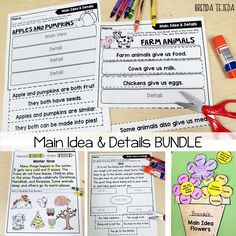Bundle to teach main idea and details. Includes a PPT presentation, differentiated reading passages, center activities, craft & much more!