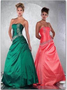 US $126.99 | (FITS0252932)2012 Style A-line Strapless Applique Sleeveless Floor-length Taffeta Prom Dress / Evening Dress