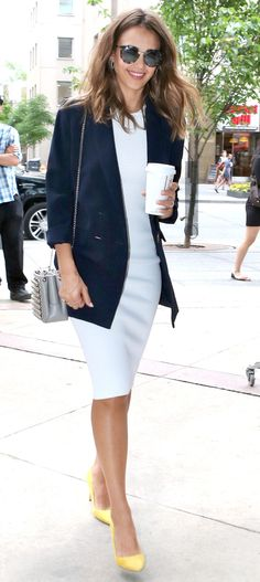 Jessica Alba's Outfit Is Understated—Until You Get to Her Shoes via @WhoWhatWearUK