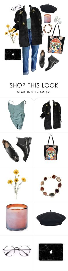 """because the night"" by idaelinas ❤ liked on Polyvore featuring American Apparel, Alice + Olivia, Kimberly McDonald, LAFCO, Element, vintage, StreetStyle, Winter, denim and thrift"