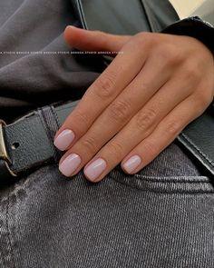 Neutral Nails, Nude Nails, Nail Manicure, Pink Nails, Acrylic Nails, Nail Polish, Classy Nails, Stylish Nails, Simple Nails